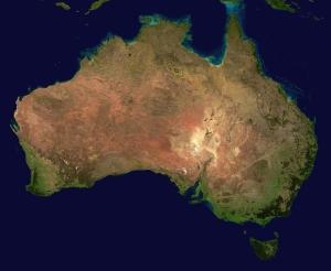 australia aerial view