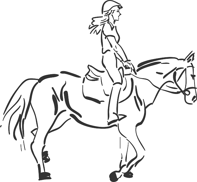 girl riding horse coloring pages - photo#28